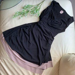 🍍2 for $10! Anne Klein faux wrap waterfall dress